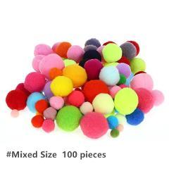 100pcs Lot Large medium and small color wool ball golden onion ball kindergarten DIY handmade materials for children BS94