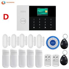 WIFI GSM GPRS Switchable Wireless Home Security Alarm system with APP Control LCD Touch Keyboard with Motion Sensor