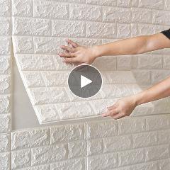 77*70cm DIY PE Foam 3D Self Adhesive Panels Wall Stickers Home Decor Embossed Brick
