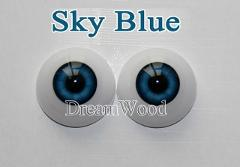 "Reborn Doll Eyes one Pair 22mm suit for 20"" 22"" reborn babies doll Accessories Blue color eyes for toys"
