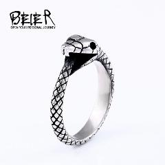 BEIER New arrival Antique Finger Snake Rings With Women High Quality 316L Stainless Steel Animal Unique Cool Jewelry  BR8-655