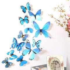 2019 hot sale 3D Wall Stickers DIY Stickers beautiful Butterfly waterproof Home Decor room Decorations bedroom decor A30730