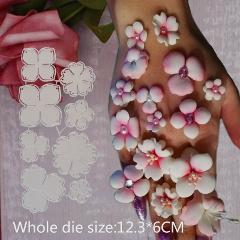 Metal cutting dies Steel Embossing flower Craft DIY  For 2019 Metal Cutting Embossing  paper Scrapbooking 8pcs 12.3*6cm