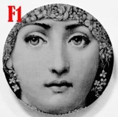 Fashion Lady Facial Portrait Decorative Hanging Plates Round Beauty Face Tray Dish Ceramic Lady Portrait Craft Decor