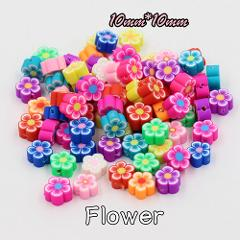 (Mixed 50 PCS/Pack) Fimo beads Fruit animal Square Style Polymer Clay Spacer Loose Beads For DIY Bracelet Necklace Accessories