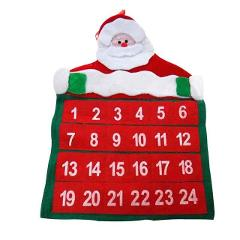 Santa Claus Christmas Advent Calendar Countdown Xmas Decor Non-woven Fabric DIN889