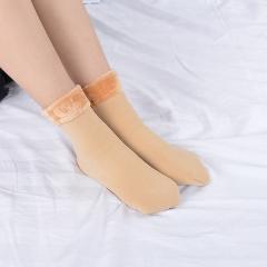 Winter Warmer Women Thicken Thermal Wool Cashmere Snow Socks Seamless Velvet Boots Floor Sleeping Socks for Mens